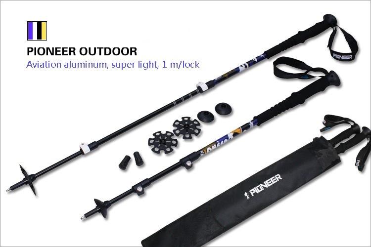 externo de fibra de carbono de alumínio de esqui acampamento