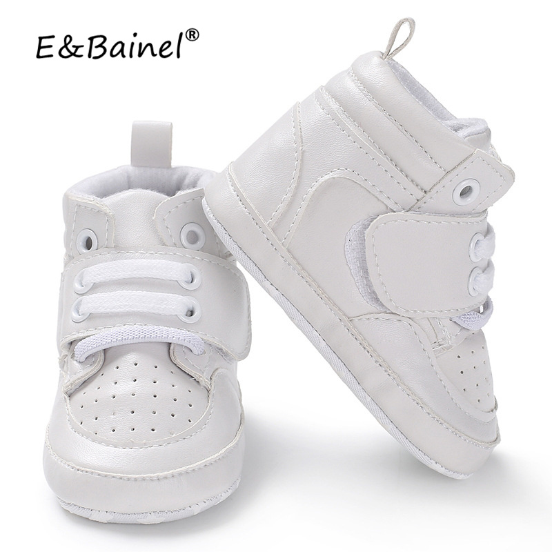 E&Bainel New 3colors PU Baby First Walker Shoes Newborn Baby Boy Girl Soft Sole Crib Shoes Warm Boots Anti-slip Sneaker