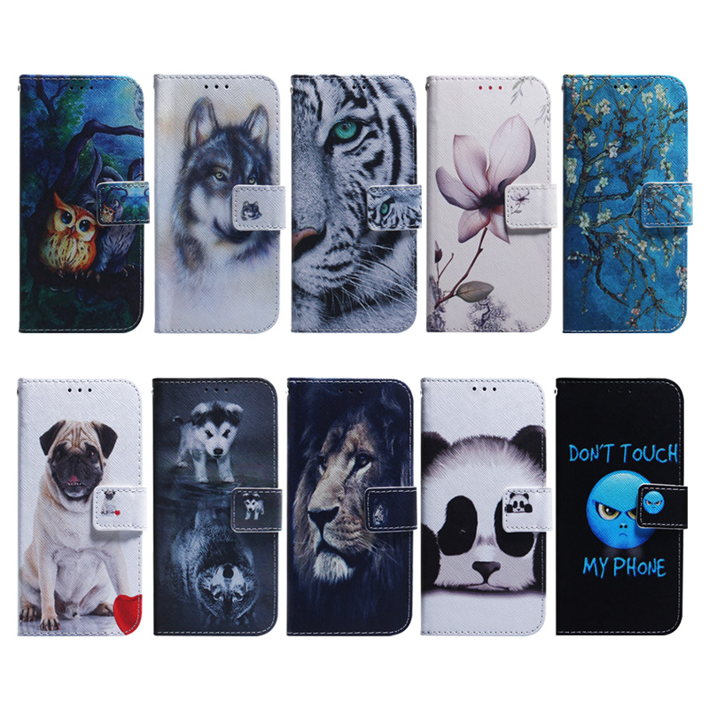 PU Leather Wallet Cover Case For Huawei P Smart 2019 Coque Flip Soft Silicone SmartPhone Etui Bag For Honor 10 Lite Funda Capa in Flip Cases from Cellphones Telecommunications