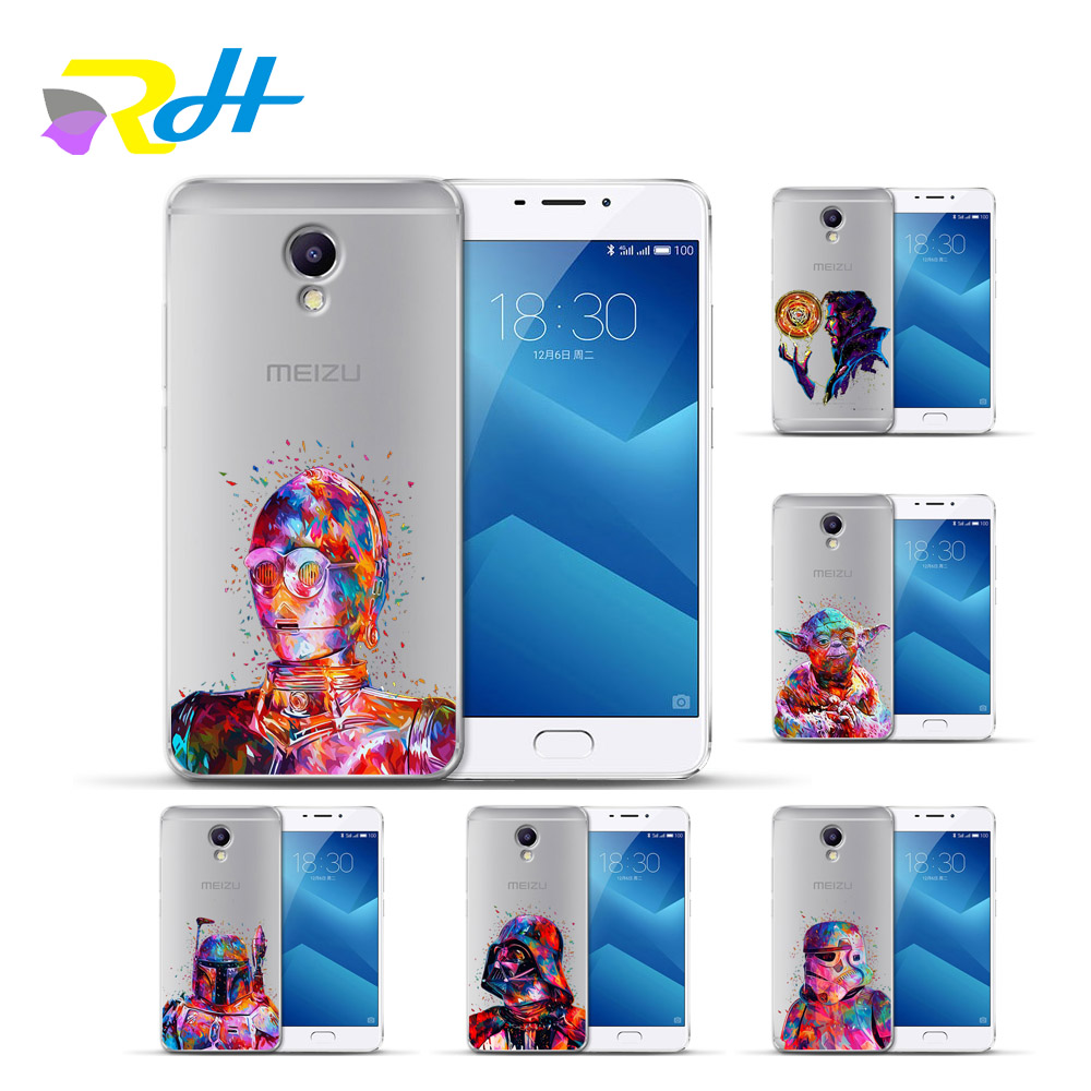 Half-wrapped Case The Best Cover Case For Meizu U10 U20 M5 Note M5c M3c Pro 6 M3s Max M5s M6 Note M3 Note Cases For Doctor Strange Star Wars Ball Capa