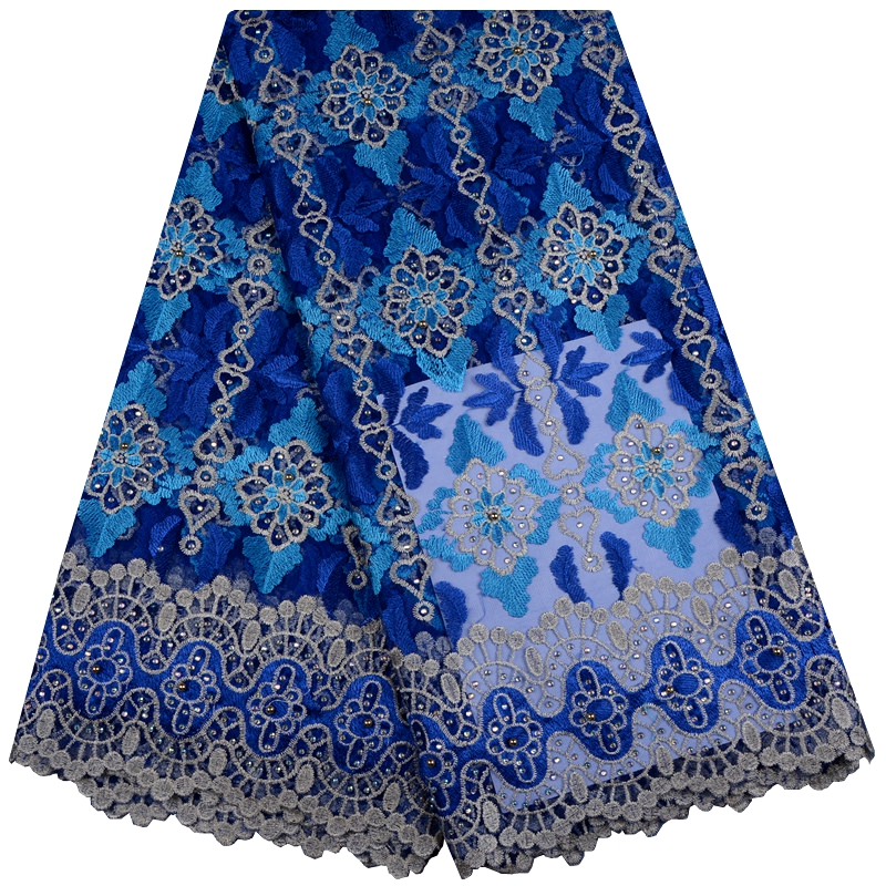 Nigerian Tulle Lace Fabrics For Party Wedding African French Net Lace With Stones High Quality African