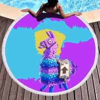 Supply Llama bath towel Game Battle Royale Burnout Summer Newest Outdoor Beach towel cosplay Party Prop shawl for Girl Women
