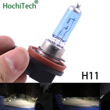 Одежда высшего качества H11 галогенные лампы 6000 K 12 V 100 W 55 W 3000Lm ксеноновые Темно-Синий Super White кварцевые Стекло автомобиля заменяемая лампочка для фар