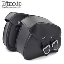 BAG-010-BK Motorcycle PU Leather Saddle Side Tool Bags Saddle Bag for Motorbike Luggage Accessories недорого