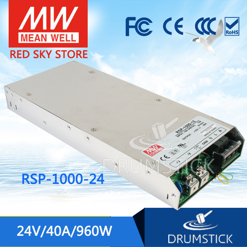 (12.12)MEAN WELL original RSP-1000-24 24V 40A meanwell RSP-1000 24V 960W Single Output Power Supply selling hot mean well rsp 1500 5 5v 240a meanwell rsp 1500 5v 1200w single output power supply