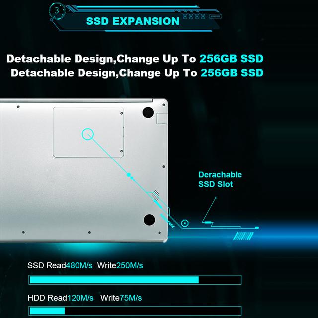 YEPO Laptop 15.6 inch 8GB RAM DDR4 128GB 256GB 512GB SSD 1TB HDD Ultrabook Gaming Laptops Intel J3455 Win10 Notebook Computer