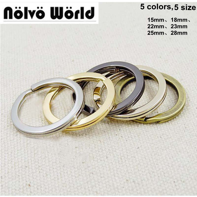 50pcs 5colors 15mm18mm22mm23mm25mm28mm Wholesale Car Key Ring Luggage Hardware Accessories O Ring For Bags