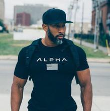 2017 мышц Фитнес братья Мужская Спортивная футболка с коротким рукавом мужская Круглый воротник плотно обучение одежда