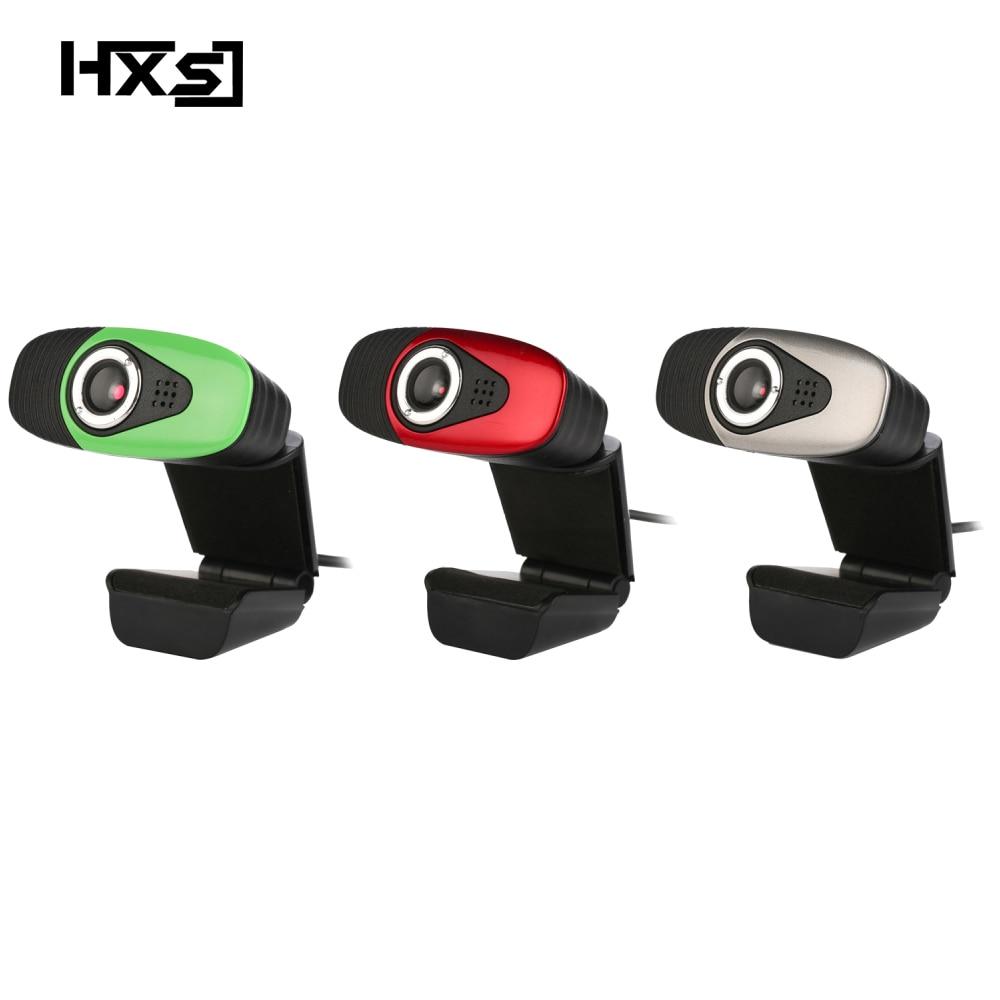 HXSJ USB 2.0 Digital Video Webcamera Webcam Web Camera HD  Pixels With Sound Absorption Mic Microphone For Desktop PC Lap-in Webcams from Computer & Office