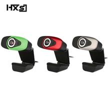 HXSJ USB 2.0 กล้องวิดีโอดิจิตอล Webcamera เว็บแคมเว็บแคม HD พิกเซลพร้อม Sound Absorption Mic ไมโครโฟนสำหรับเดสก์ท็อป PC Lap