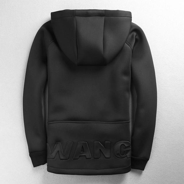 2016 New Arrival Mens Hoodies Sweatshirts Hip Hop WANG Hoodie Black Jacket Hiphop Men Clothes Fashion Chandal Hombre Marca