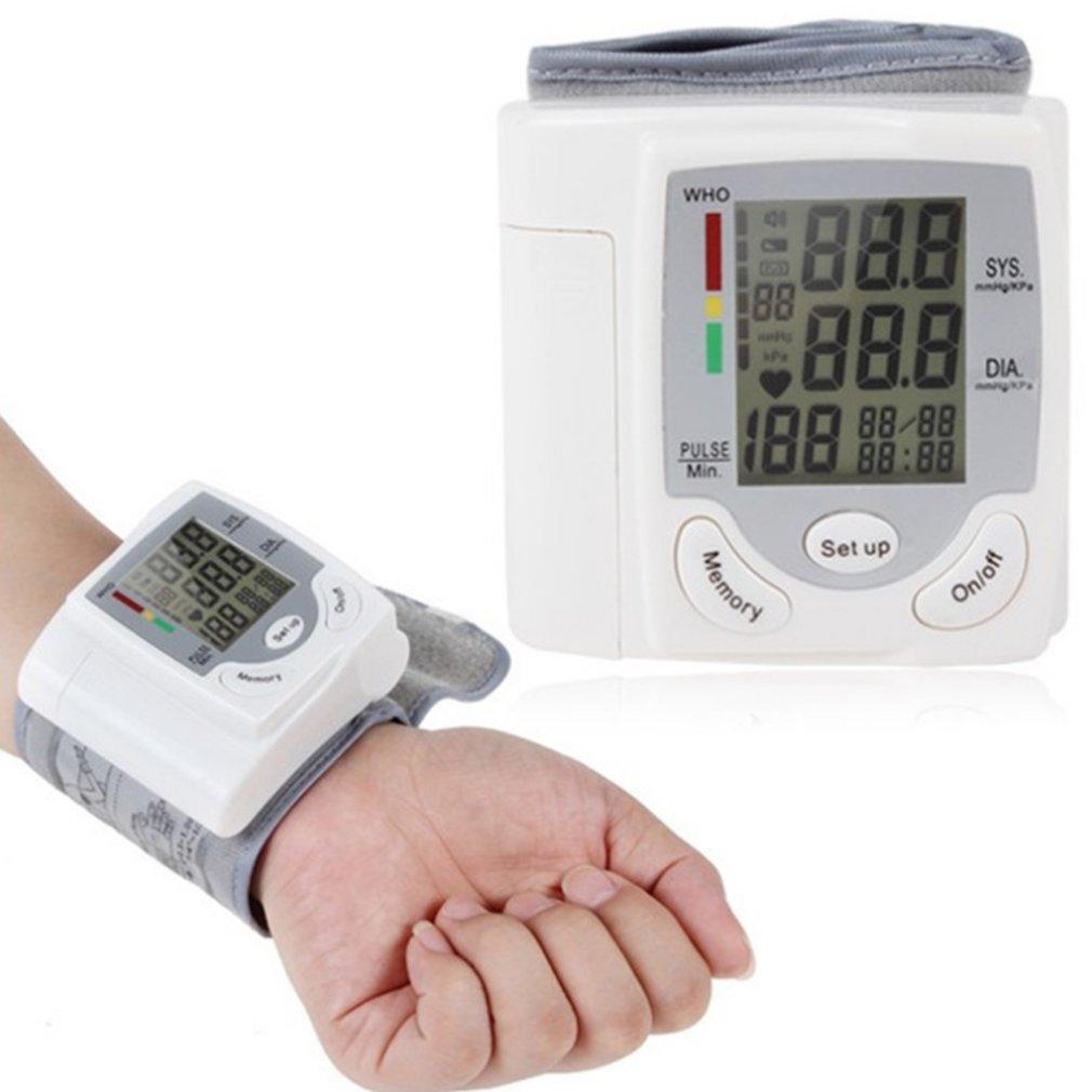 Автоматическая Цифровая ЖК-дисплей Дисплей наручные Приборы для измерения артериального давления Мониторы Heart Beat частоты пульса метр изме...