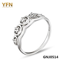 GNJ0514 2016 Anel 100 Real Pure 925 Sterling Silver Crown Ring 1PC Fashion Jewelry Engagement Ring