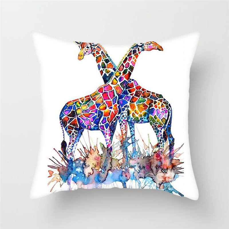 Fuwatacchi Home Decor Magical Girl Cushion Covers Butterfly Forest Horse Pillow Cover for Chair Sofa Office Anime Pillowcase in Cushion Cover from Home Garden