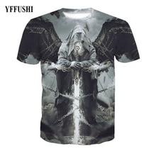 YFFUSHI 2018 Male/Female 3d t shirt Men Fashion 3D Graphic Print Summer T  Hold Sword Hip Hop Tees Plus Size 5XL