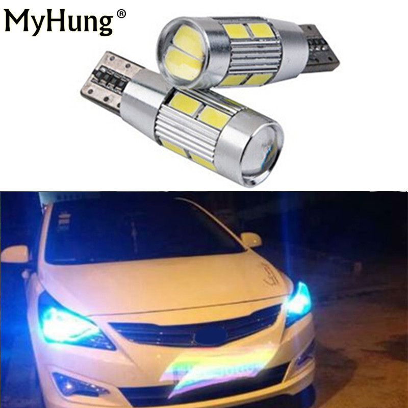 2pcs for <font><b>hyundai</b></font> i30 sonata tucson elantra ix35 <font><b>accent</b></font> solaris drl T10 <font><b>LED</b></font> W5W 12V Car <font><b>LED</b></font> Auto Lamp Light bulbs car styling image