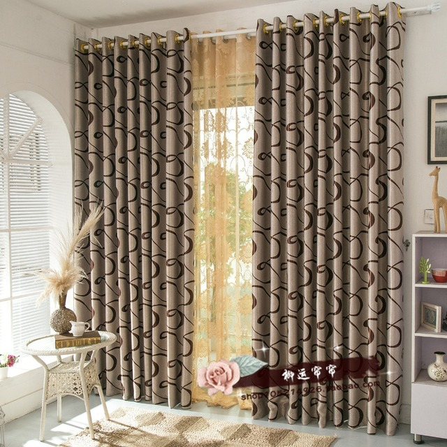 Iinen Cotton Curtains Mediterranean Drapes Punching Style Luxury Curtains  Shading Rate 90% Window Curtain For