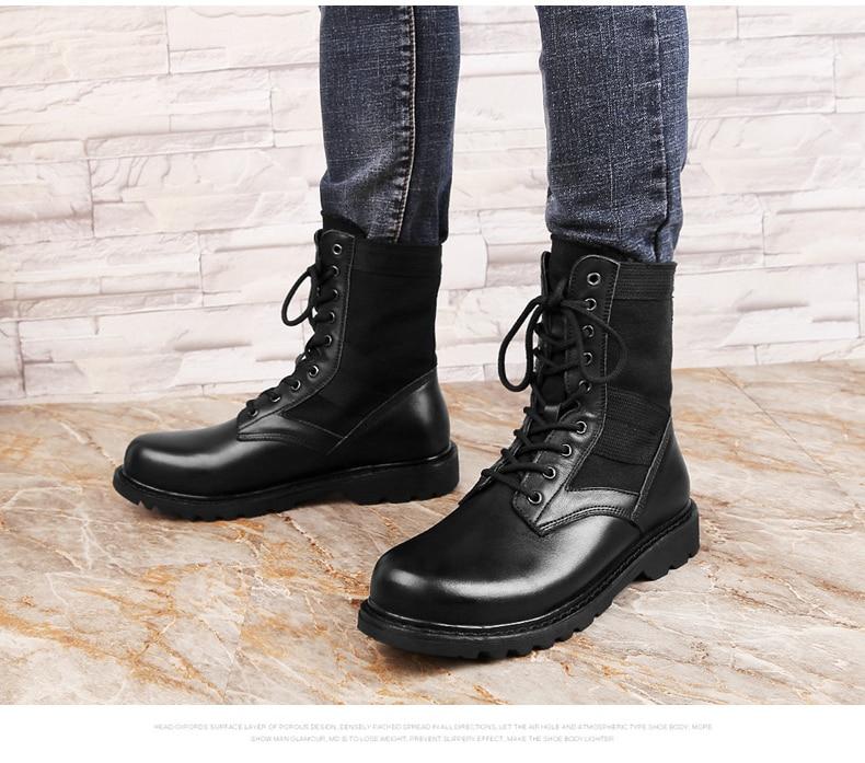 {Zorssar}/уличные армейские ботинки; мужские военные тактические ботинки; зимние дышащие армейские ботильоны; мужские рабочие ботинки - 3