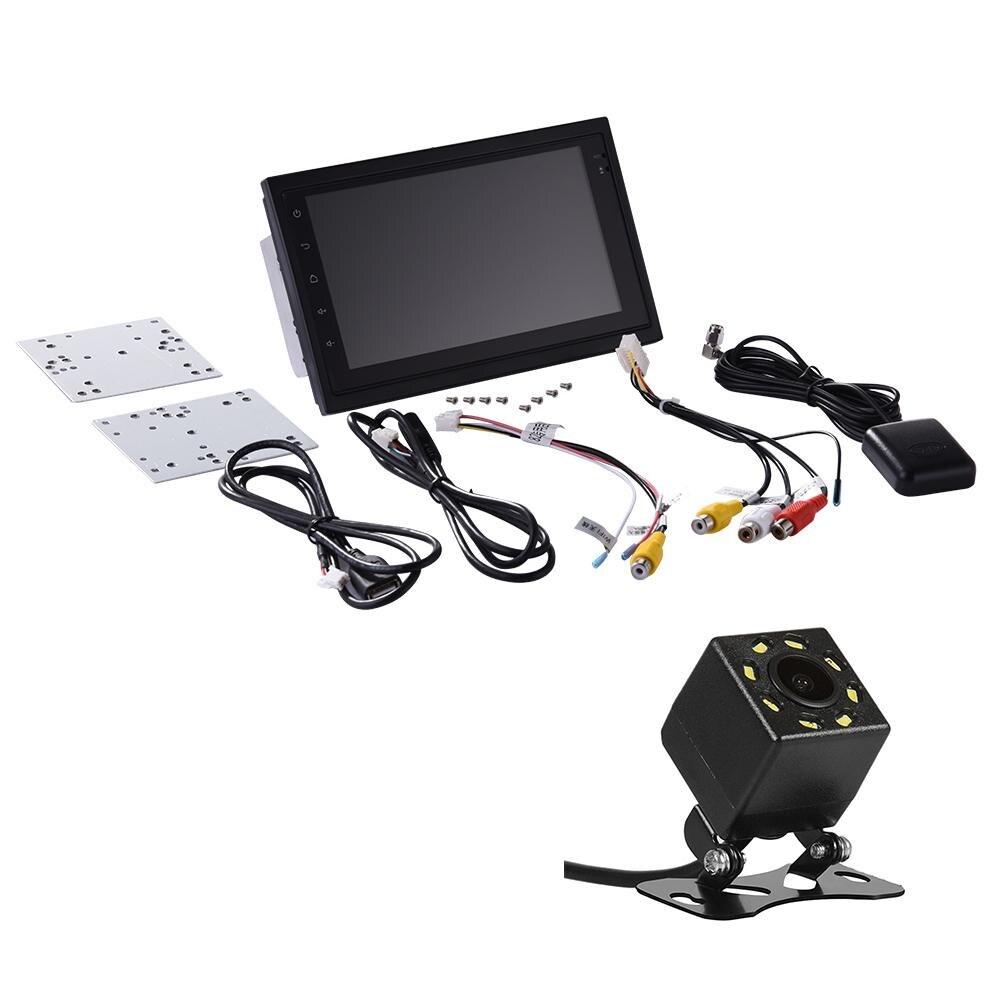 2 Din 7 ''авто радио мини заднего вида камера Мультимедиа Wi Fi gps трекер навигатор HD реверсивный руль управление