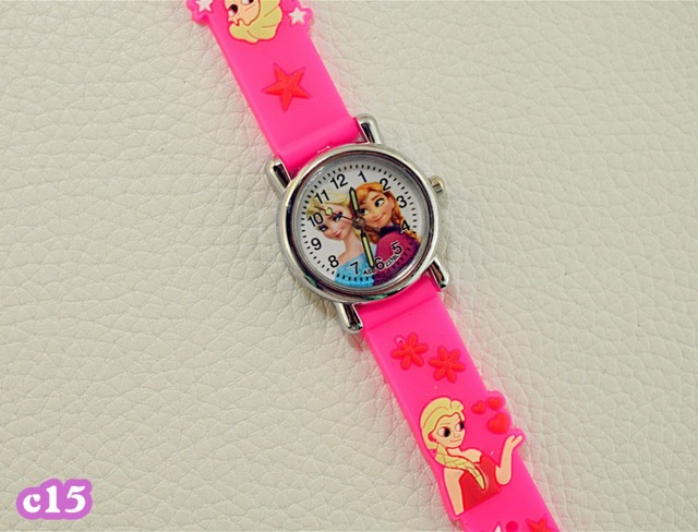 Fashion Cute Princess Elsa Anna Children Watches For Girls Kids Watch Hello Kitty Cool Sports Quartz Wristwatches Gifts Clock KT