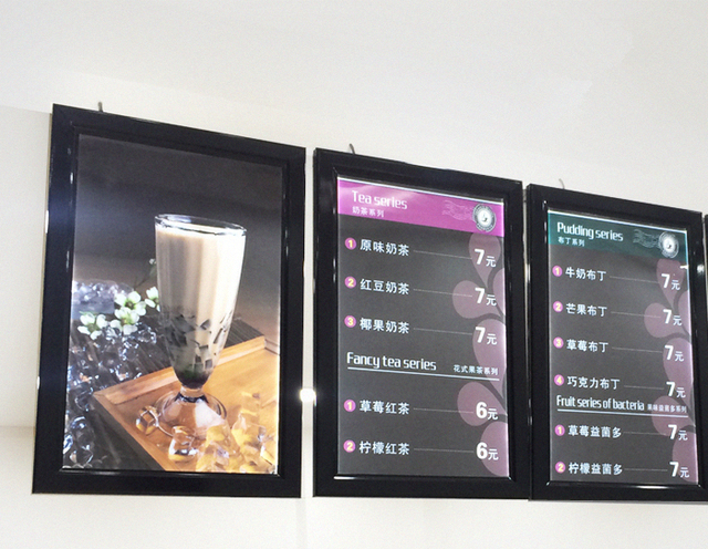 Buy hot sale outdoor snap frame a1 photo for Porte menu exterieur occasion