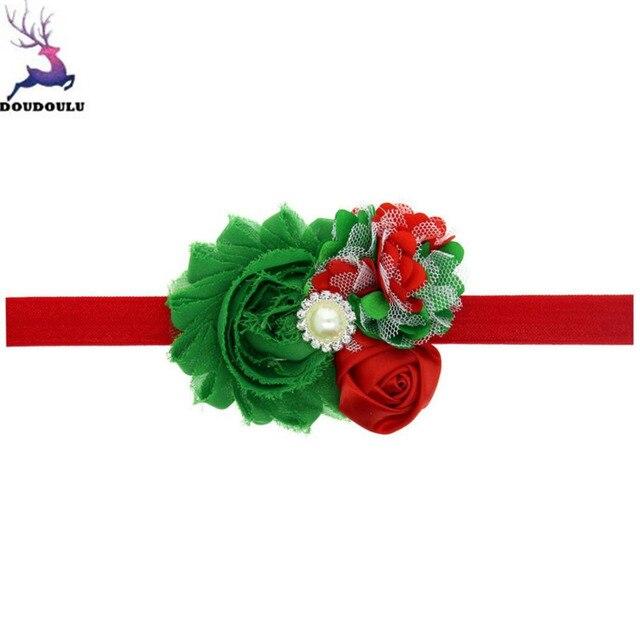 Doudoulu Navidad Adornos clips de pelo para las niñas Encaje flores ...