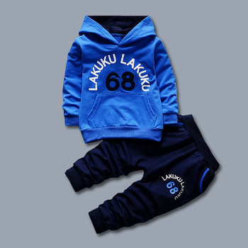Toddler Tracksuit Autumn Baby Clothing Sets Children Boys Girls Fashion Brand Clothes Kids Hooded T-shirt And Pants 2 Pcs Suits 3