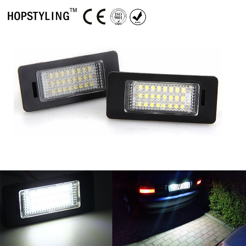 2pcs Canbus No Error LED tail number plate light For <font><b>Audi</b></font> Q3 Q5 A1 A3 A4 A5 <font><b>A6</b></font> A7 TT coupe 8J VW Passat car accessory lamps image