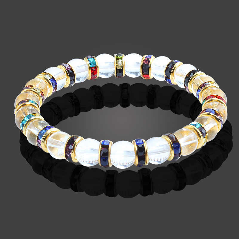34783759a219 Natural Crystal and Stone Bead Yoga Energy Bracelets – M and K s ...
