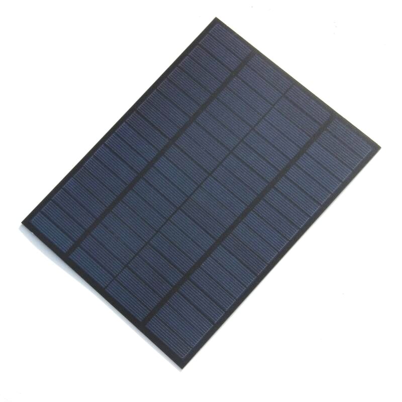 New High Quality <font><b>5W</b></font> 18V <font><b>Solar</b></font> Cell Polycrystalline PET <font><b>Solar</b></font> <font><b>Panel</b></font> DIY <font><b>12V</b></font> <font><b>Solar</b></font> Battery Charger 220*165*3MM Free Shipping image