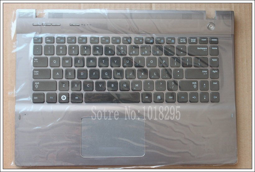 NEW FOR Samsung QX410 QX411 English US laptop keyboard with c shell BA75-03195B