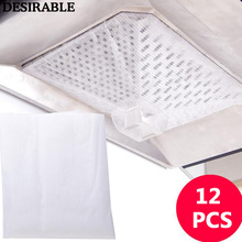 12 шт диапазон капота масло поглощающая пленка не-тканый фильтр бумага Экологичная кухонная вытяжка высокотемпературная анти-масляная всасывающая пленка