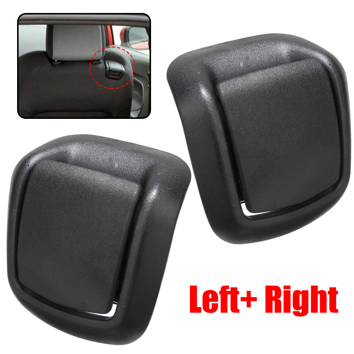 For Ford 1Pair Front Seat Tilt Handles 1417520 1417521 Left And Right Plastic Support Fiesta MK6 2002-2008