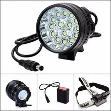 26000LM 15*Cree XM-L T6 3 Modes Bike Bicycle Light Headlight Headlamp Flashlight 15T6 with 6×18650 Battery Pack Charger
