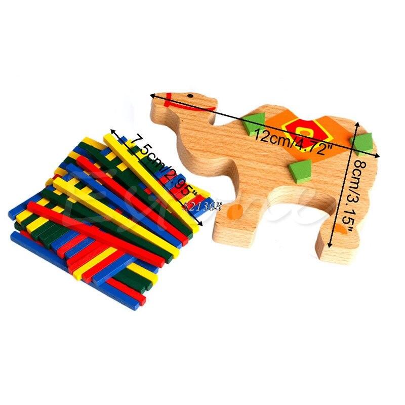 Bayi Mainan Pendidikan Gajah Unta Menyeimbangkan Blok Mainan Kayu - Mainan bangunan dan konstruksi - Foto 5