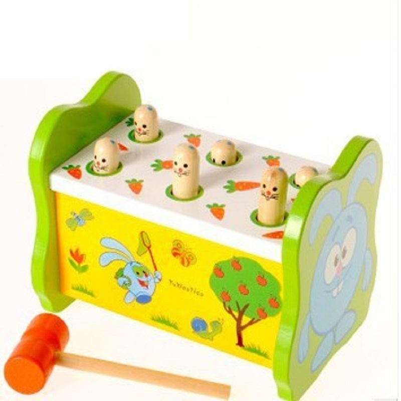 ФОТО Funny Game for Children Wood Block Toys Percussion Set Early Learning Baby Toys