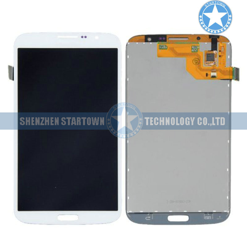 White Replacement For <font><b>Samsung</b></font> Galaxy Mega 6.3 I527 <font><b>I9200</b></font> I9205 Front Glass Lens Touch Digitizer Screen LCD Assembly image