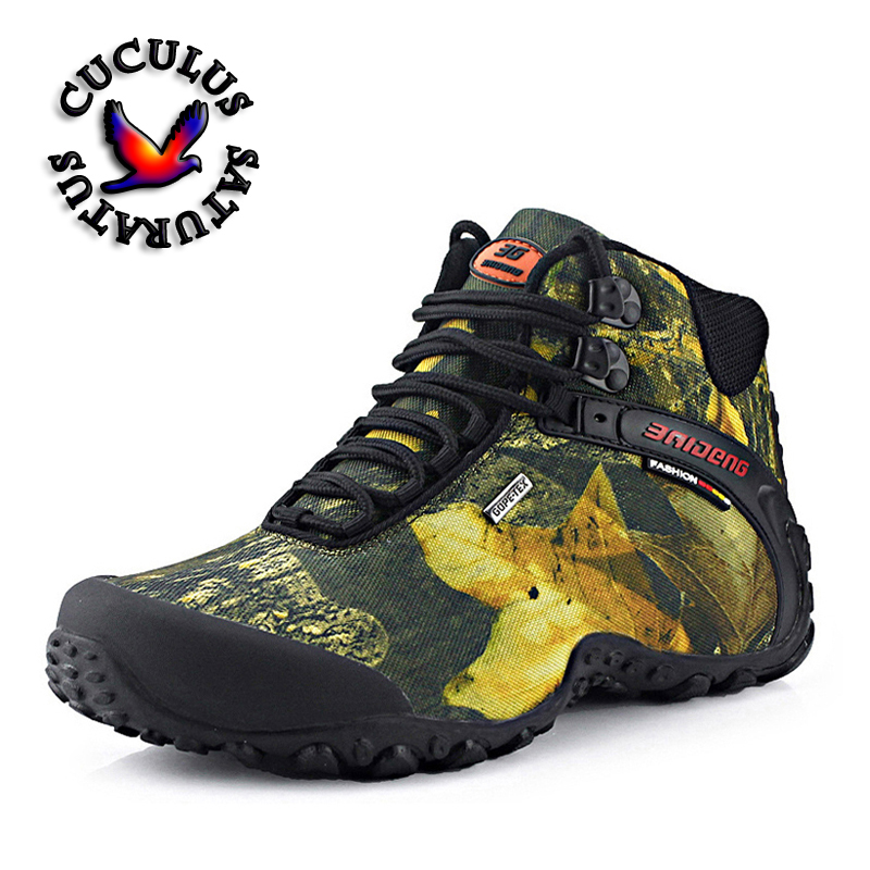 New Brand Men's Hiking Shoes Outdoor Men Trekking Shoes Non-slip Waterproof Hiking Boots Mountain Climbing Shoes 8069 big size 46 men s winter sneakers plush ankle boots outdoor high top cotton boots hiking shoes men non slip work mountain shoes