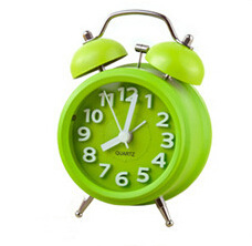 Home Decor DIY Small Double-Bell Night Light Children Alarm Clock