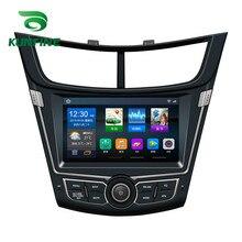 Quad Core 1024*600 Android 6.0 Car DVD GPS di Navigazione Lettore Deckless Auto Stereo per Chevrolet SAIL 2015 2016 2017 2018 Unità Principale