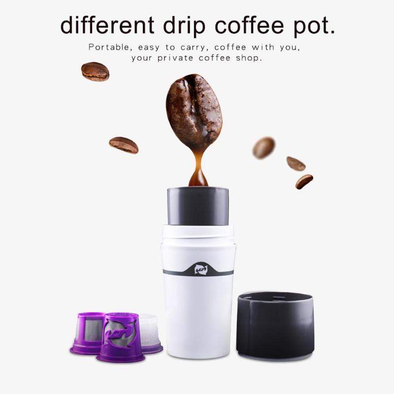 Alloet Manual Coffee Maker Filter Cup Hand Pressure Portable Capsules Coffee Machine Manual Coffee Maker Bottle for Home все цены