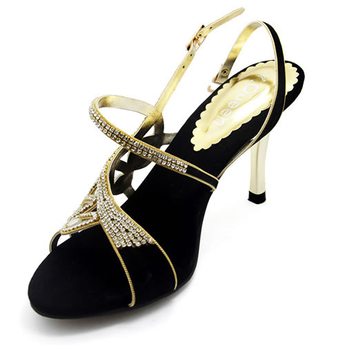 Sex High Heel Summer 2016 Rhinestone Shoes Size 37 To 43 Black Color Beautiful Sandals Slippers
