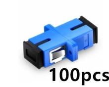 100pcs SC PC UPC adapter connector Simplex Singlemode Plastic Fiber Optic Adapter Ftth Optical Connector