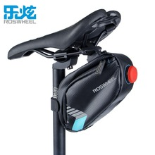 ROSWHEEL Bicycle Saddle Bag With Tail Lamp Light Waterproof Bike Rear Bags Cycling Rear Seat Tail Bag Accessories