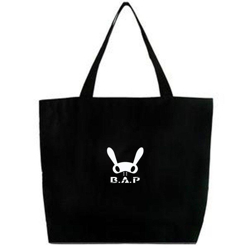 KPOP B.A.P BAP MATOKI Shoulder Bag Black Pouch Tote Handbag ZELO HIMCHAN YONGGUK ...