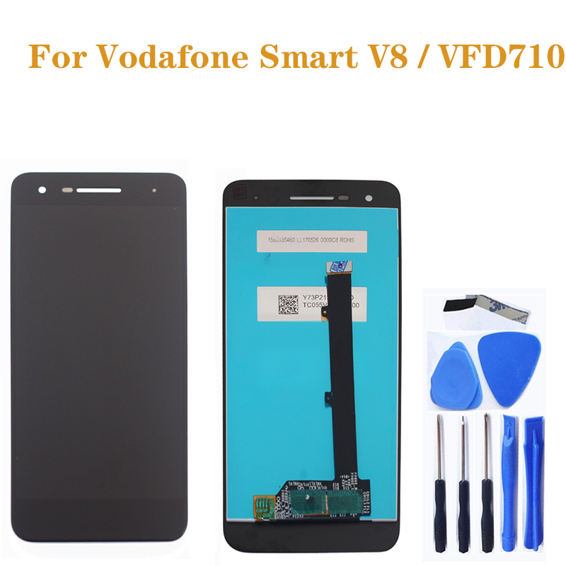 For Vodafone Smart VFD710 LCD Smart V8 LCDtouch screen display digital converter for Vodafone vfd710 mobile phone repair parts-in Mobile Phone LCD Screens from Cellphones & Telecommunications