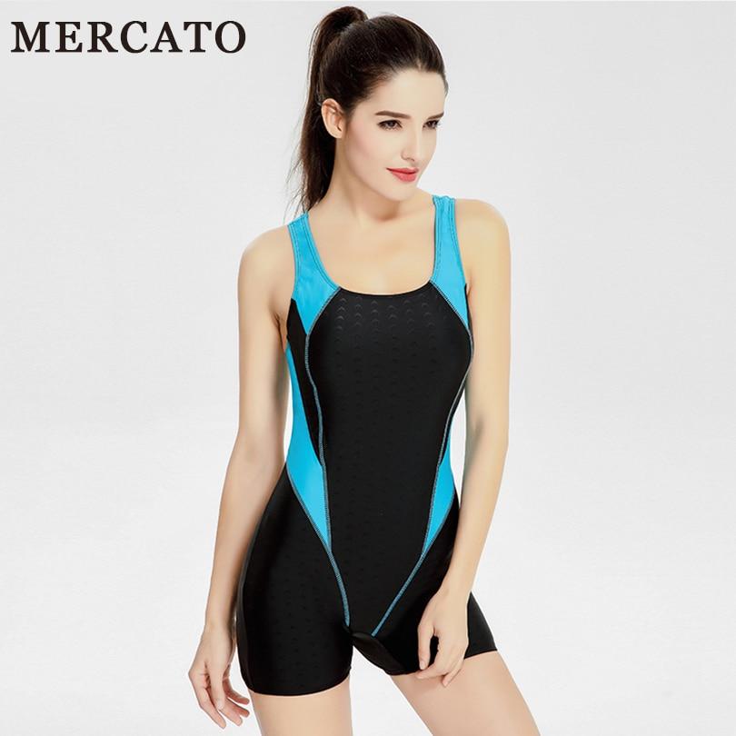 9e6ae19c45dea MERCATO Sport Swimsuit One Piece Swimwear Shorts Women Beachwear Swimming  Suit Professional Sexy High Cut Backless Swim Bodysuit-in One-Piece Suits  from ...