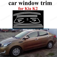 car Styling For K ia K2 Stainless Steel sill strip Exterior Accessories Window Trim|window trim|exterior accessories|car window trim -