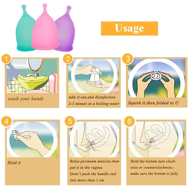 Furuize Copa menstrual Lady Cup Feminine hygiene reusable period Menstrual cup Good than pads Health Care Women cup Suit Sport