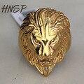 HNSP juntas Anel de aço Inoxidável Rei Leão de Ouro Da Moda Para Os Homens de Alta Qualidade moda Masculina jóias anel GMYR196